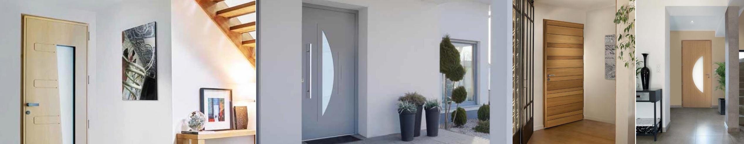 Porte d entr e alu pvc bois vitr e orl ans saint jean de la ruelle - Habillage de porte d entree ...